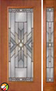 non-impact 687moh entry door with mohave glass and 694moh sidelight
