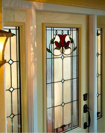 tampa windows door contractor offers bellfower decorative door glass from the odl eclectic collection