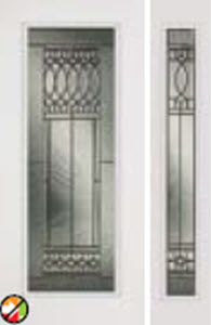 door with sidelight 686ps with paris glass