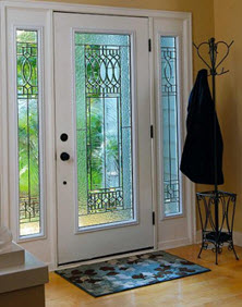 paris decorative door glass entry way ridge  top exteriors tampa