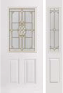 684PNA non-impact entry door tampa contractor with pina decorative glass