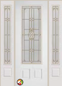 686PNA 8/0 non-impact entry doors tampa contractor with pina decorative glass