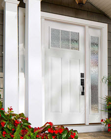 streamed door glass in white entry way ridge  top exteriors tampa