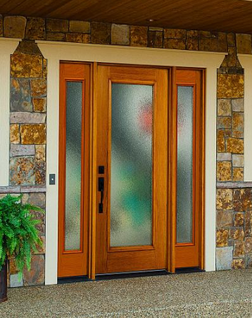 entry door textured glass mosaic style tampa contractor