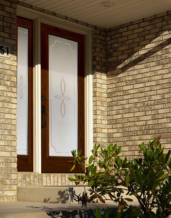 tampa windows door contractor offers trace decorative door glass from the odl classic collection
