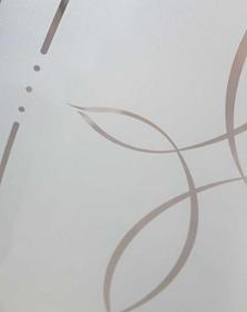 trace decorative door glass insert sample