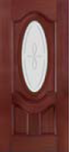non-impact door 949TRC  with trace decorative glass