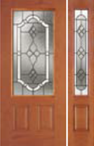 607TPnon-impact entry doors tampa contractor with tripoli decorative glass