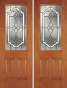 607TP 8/0 non-impact entry doors tampa contractor with tripoli decorative glass