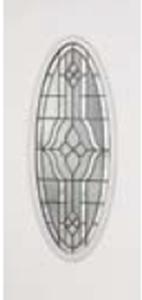 non-impact door 919TP with tripoli decorative glass