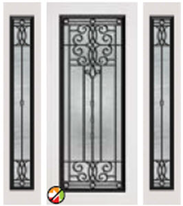 non-impact door 686vr with 690vr entry with veranda decorative glass