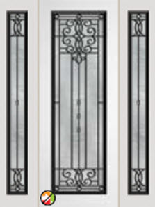 612vr 8ft entry door with veranda decorative glass
