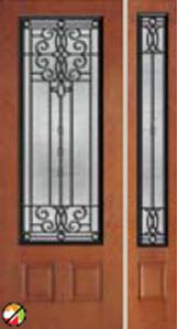 8ft entry door with veranda decorative glass