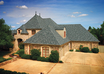 gallery home with williamsburg slate shingles in camelot collection