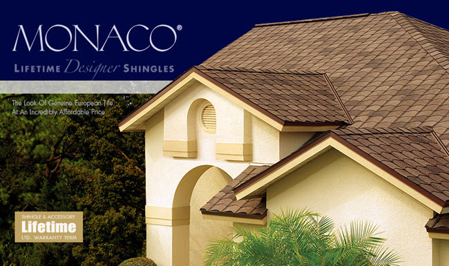 lifetime warrantied designer shingles tampa florida monaco collection