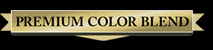 black background premium blend color logo
