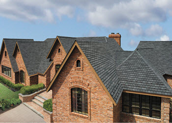 gallery home with antique slate slateline designer shingles