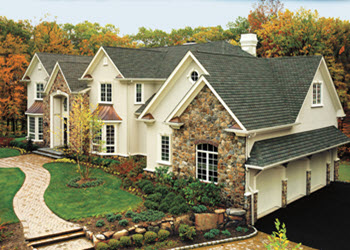 gallery home with emerald green slateline designer shingles