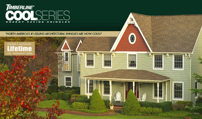 tampa florida roofing contractor offers timberline cool series shingles by GAF