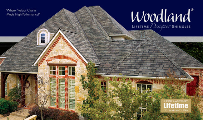 lifetime warranty designer shingles woodland collection