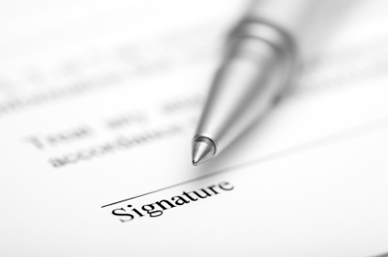 Contract ready for signature